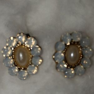 Womens Opal / Pearl Earrings